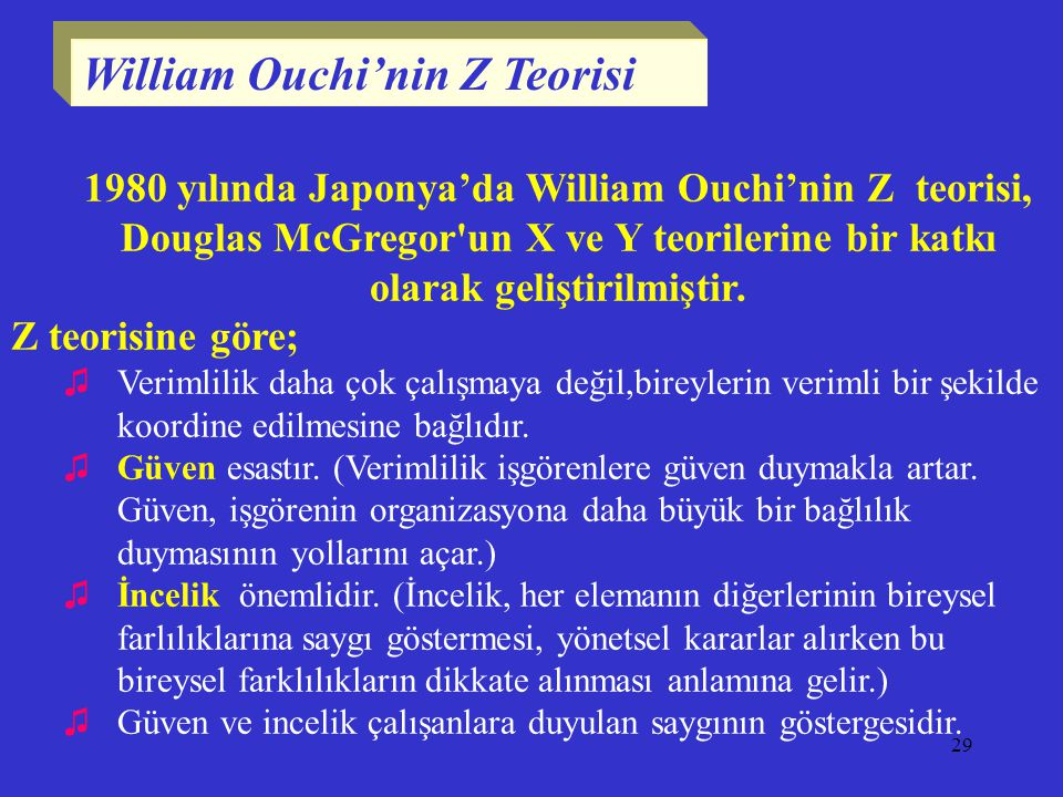William Ouchi'nin Z Teorisi