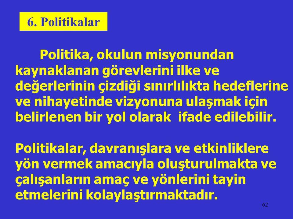 6. Politikalar