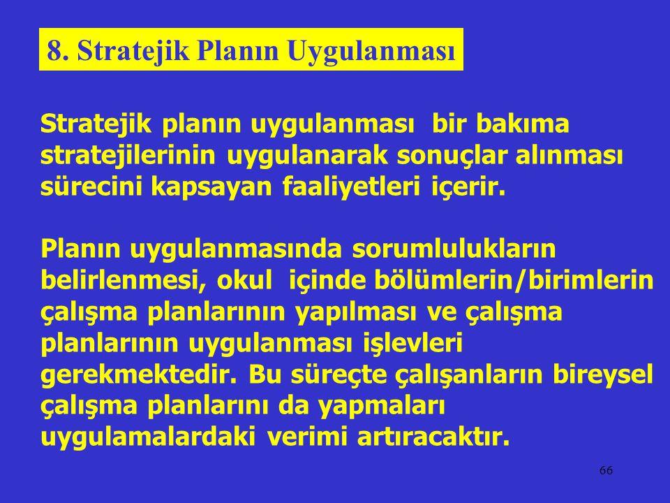 8. Stratejik Planın Uygulanması