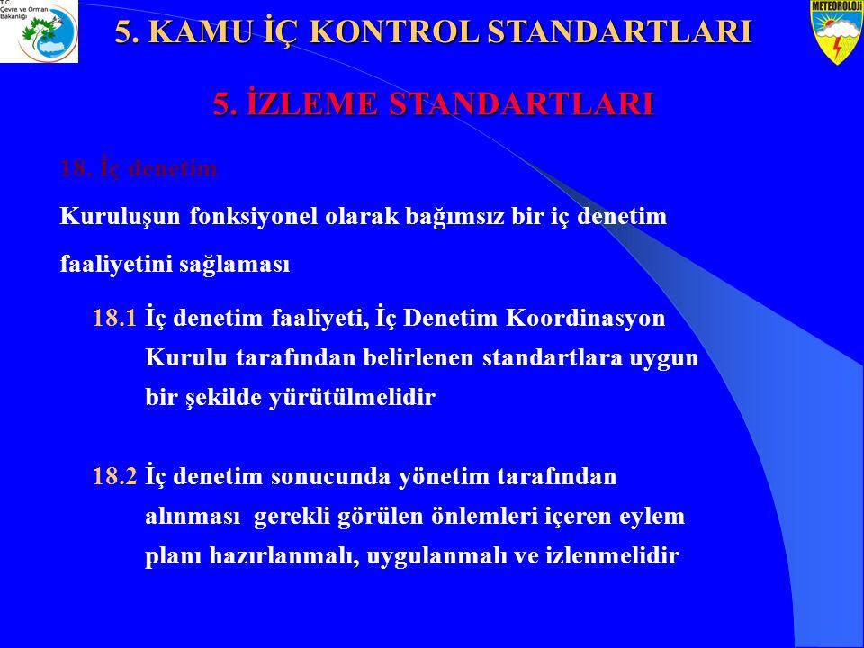 5. KAMU İÇ KONTROL STANDARTLARI