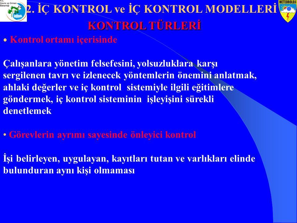 2. İÇ KONTROL ve İÇ KONTROL MODELLERİ