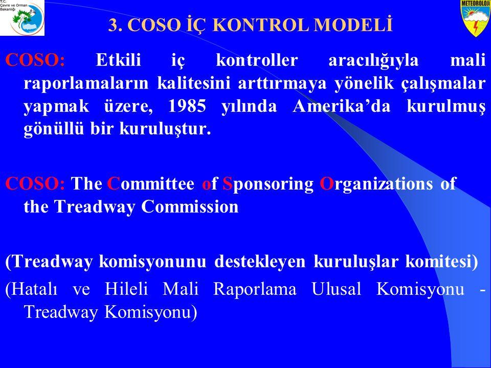 3. COSO İÇ KONTROL MODELİ