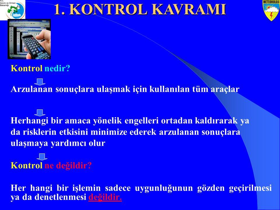 1. KONTROL KAVRAMI Kontrol nedir