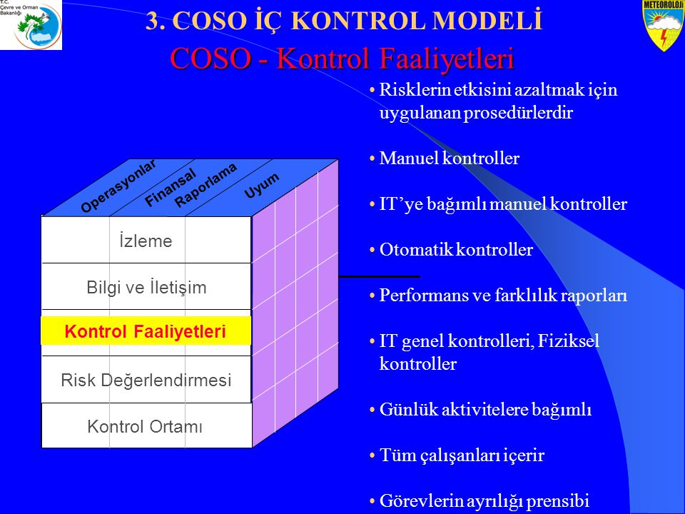 COSO - Kontrol Faaliyetleri