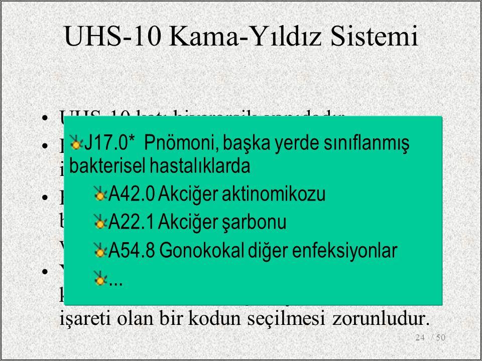 UHS-10 Kama-Yıldız Sistemi