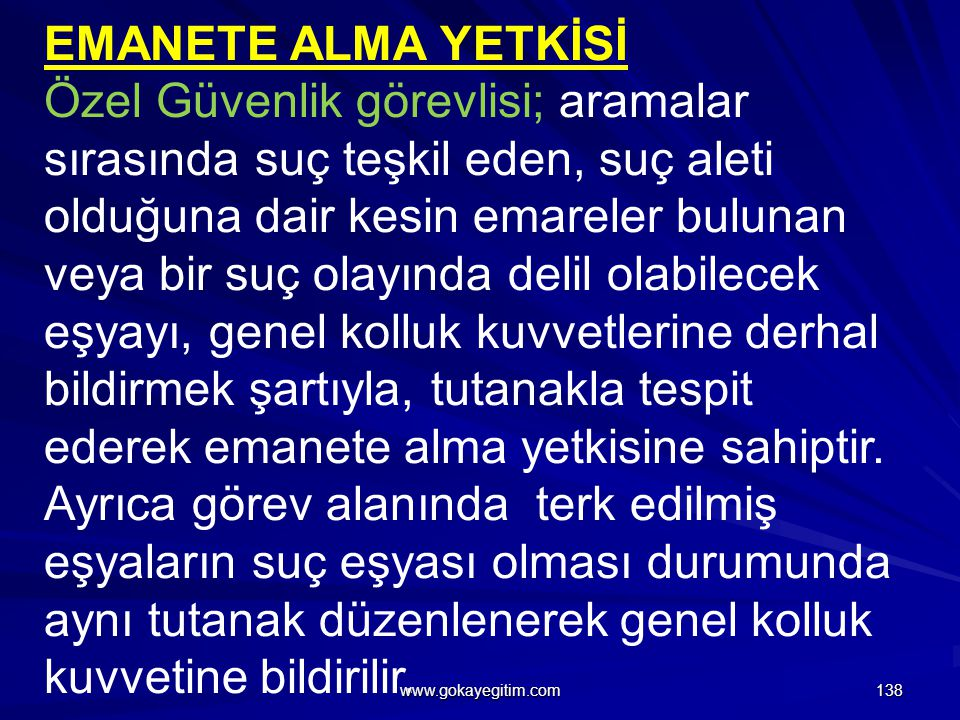 EMANETE ALMA YETKİSİ
