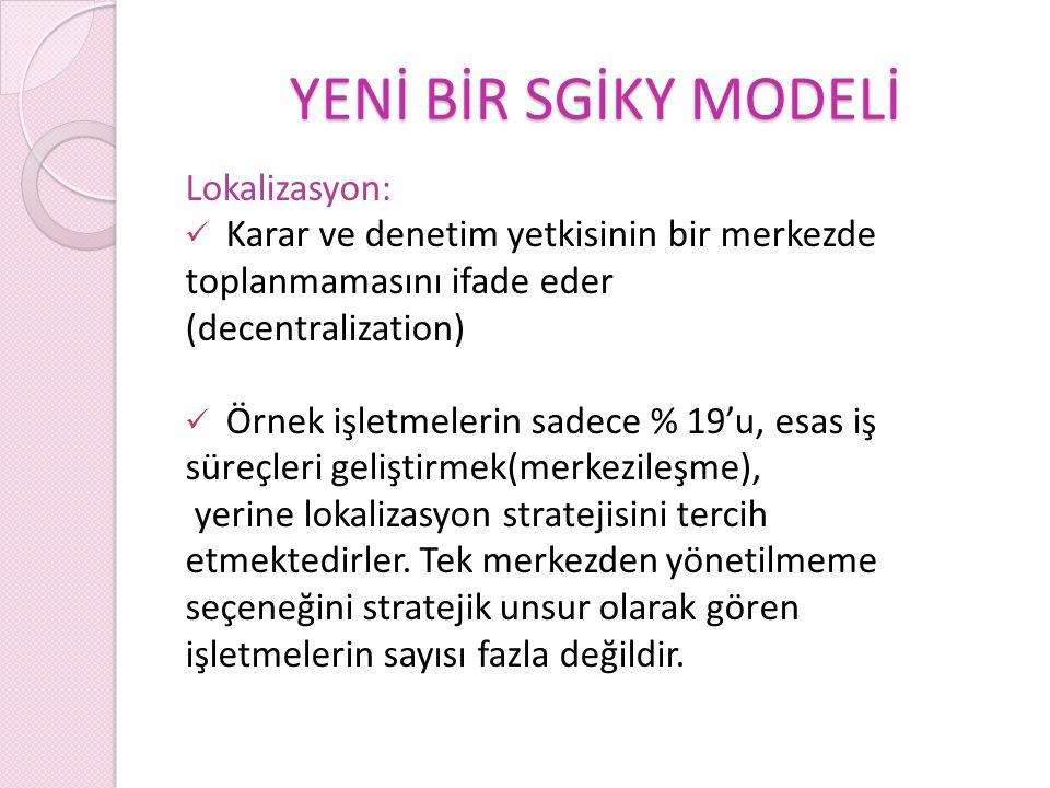 YENİ BİR SGİKY MODELİ Lokalizasyon: