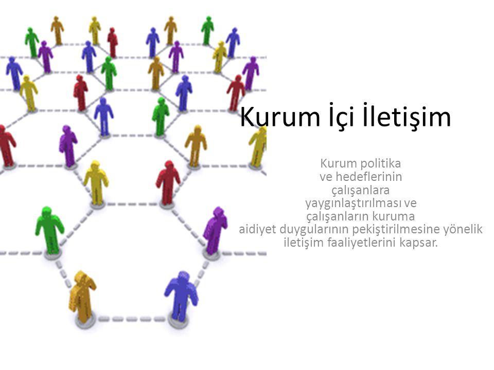 Kurum İçi İletişim Kurum politika ve hedeflerinin çalışanlara