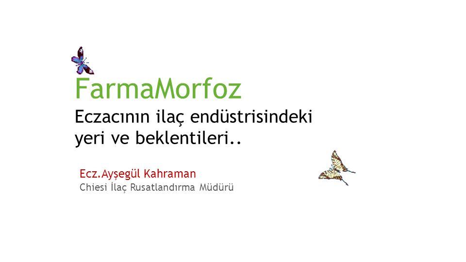 FarmaMorfoz Eczacının ilaç endüstrisindeki yeri ve beklentileri..