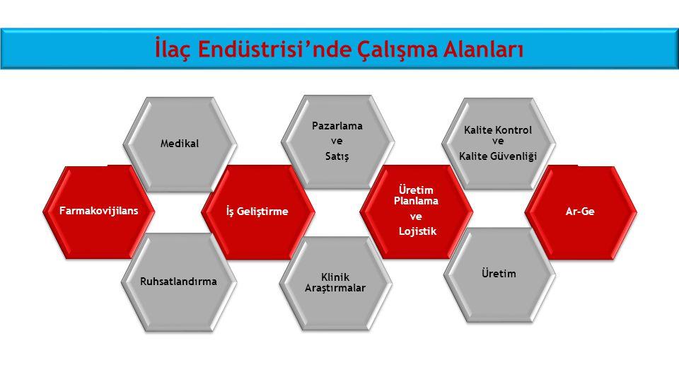 İlaç Endüstrisi'nde Çalışma Alanları