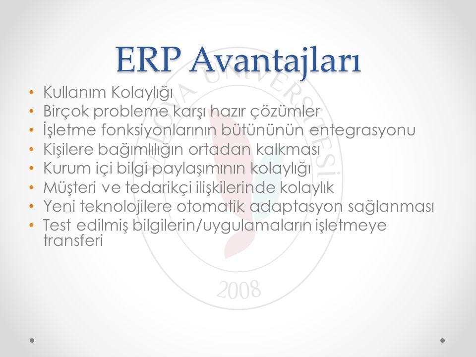 ERP Avantajları Kullanım Kolaylığı