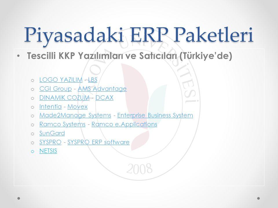 Piyasadaki ERP Paketleri