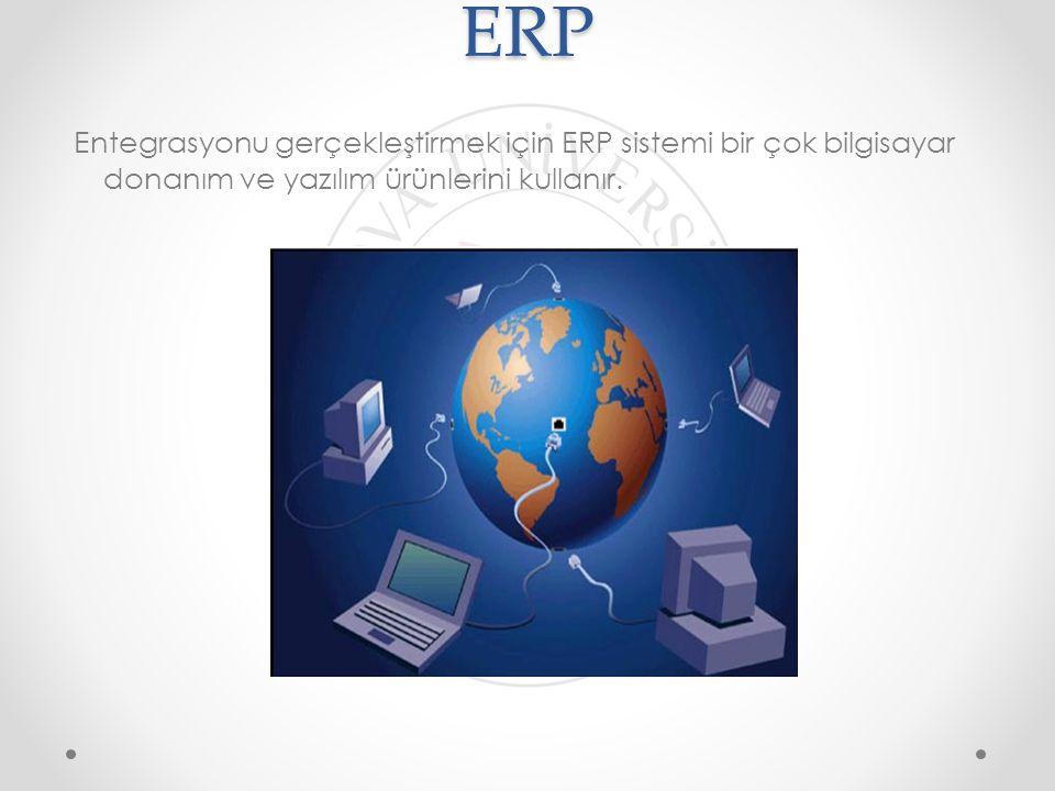 ERP Entegrasyonu gerçekleştirmek için ERP sistemi bir çok bilgisayar donanım ve yazılım ürünlerini kullanır.