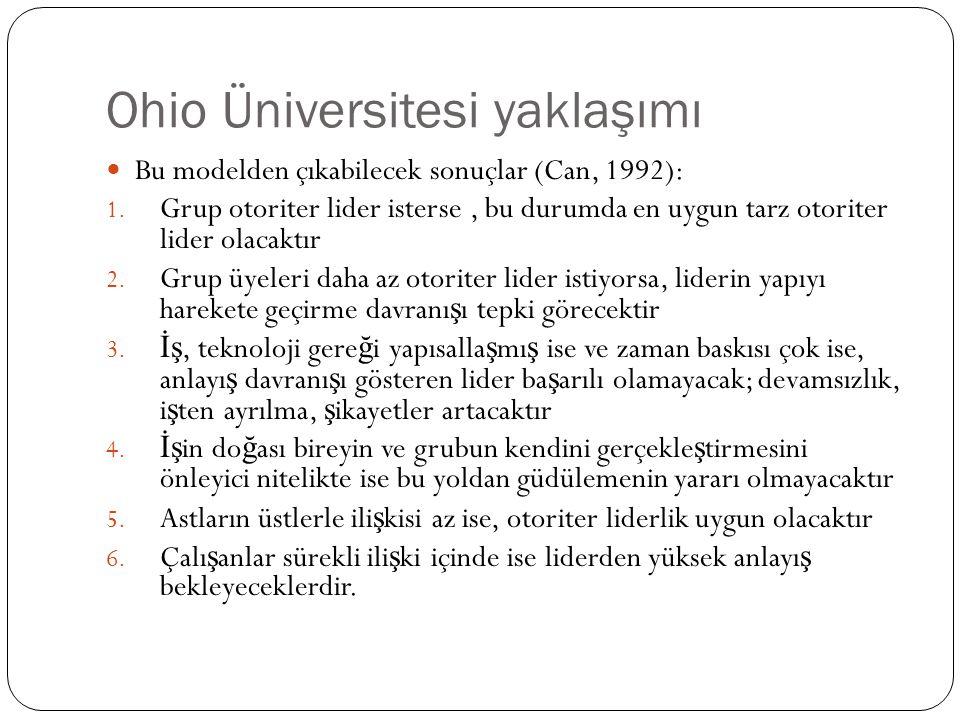 Ohio Üniversitesi yaklaşımı