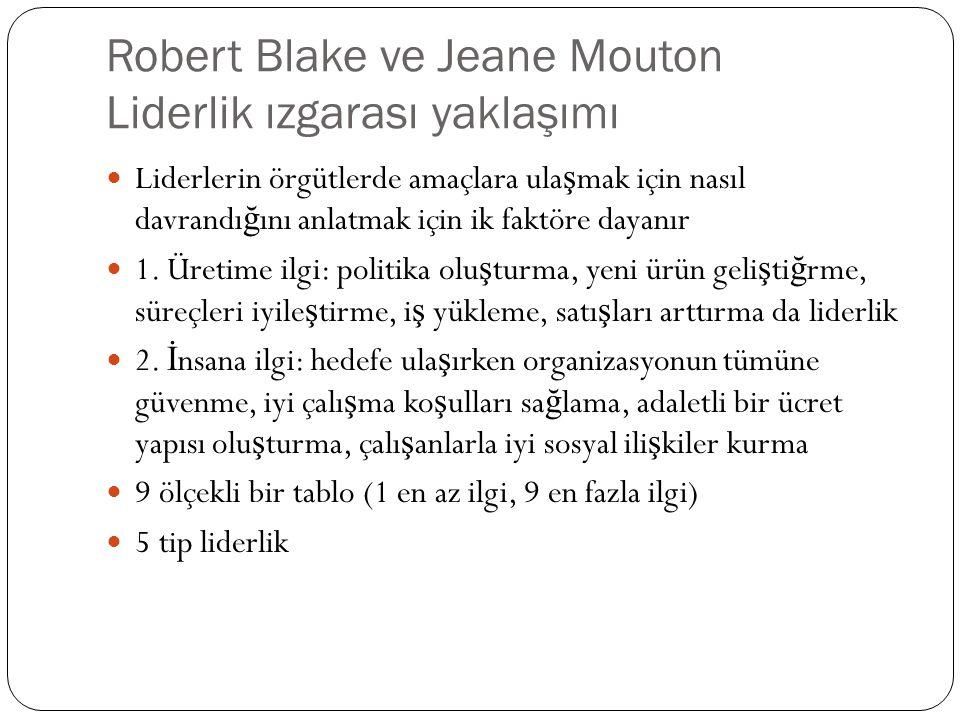 Robert Blake ve Jeane Mouton Liderlik ızgarası yaklaşımı