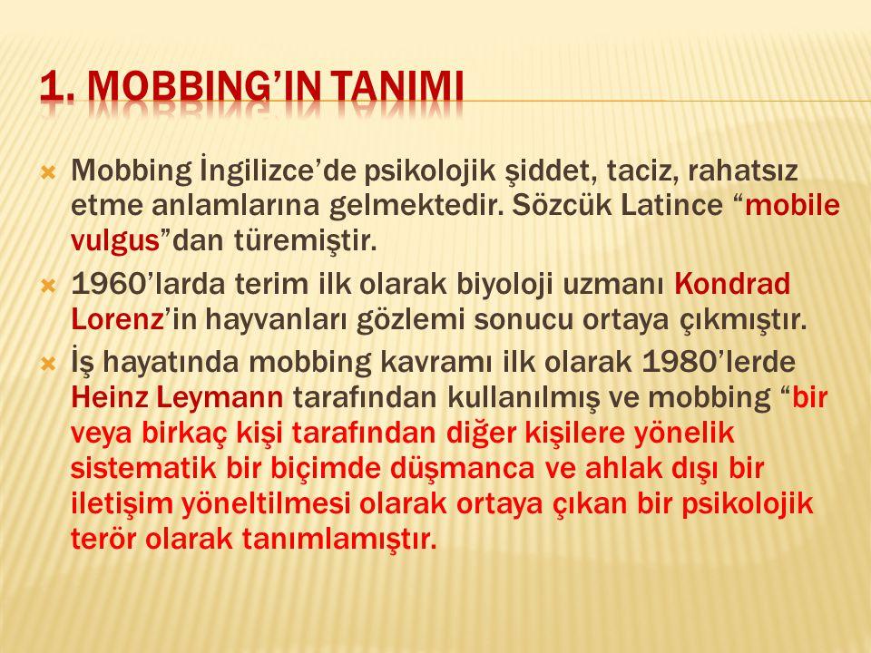 1. MOBBING'IN TANIMI
