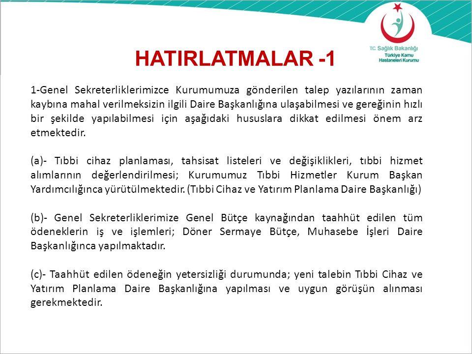 HATIRLATMALAR -1