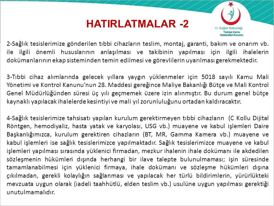 HATIRLATMALAR -2
