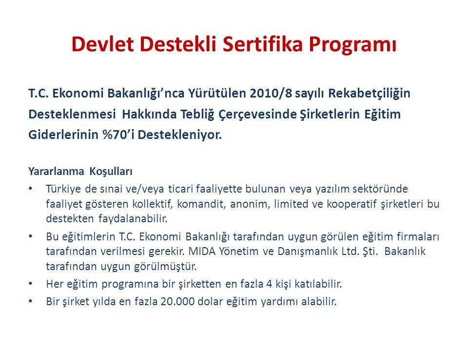 Devlet Destekli Sertifika Programı