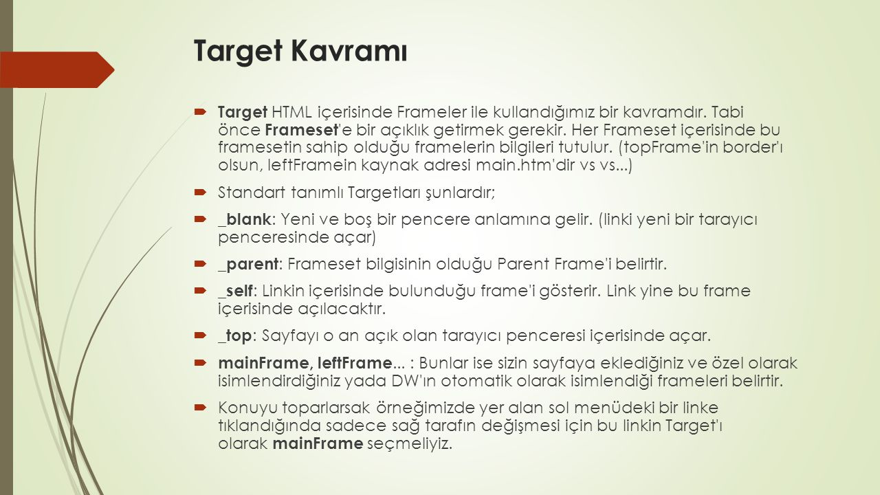 Target Kavramı
