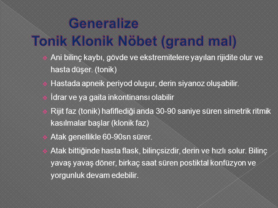 Generalize Tonik Klonik Nöbet (grand mal)