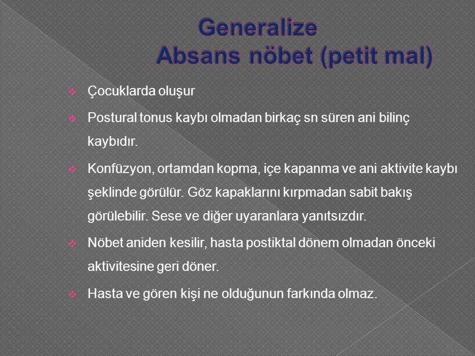 Generalize Absans nöbet (petit mal)