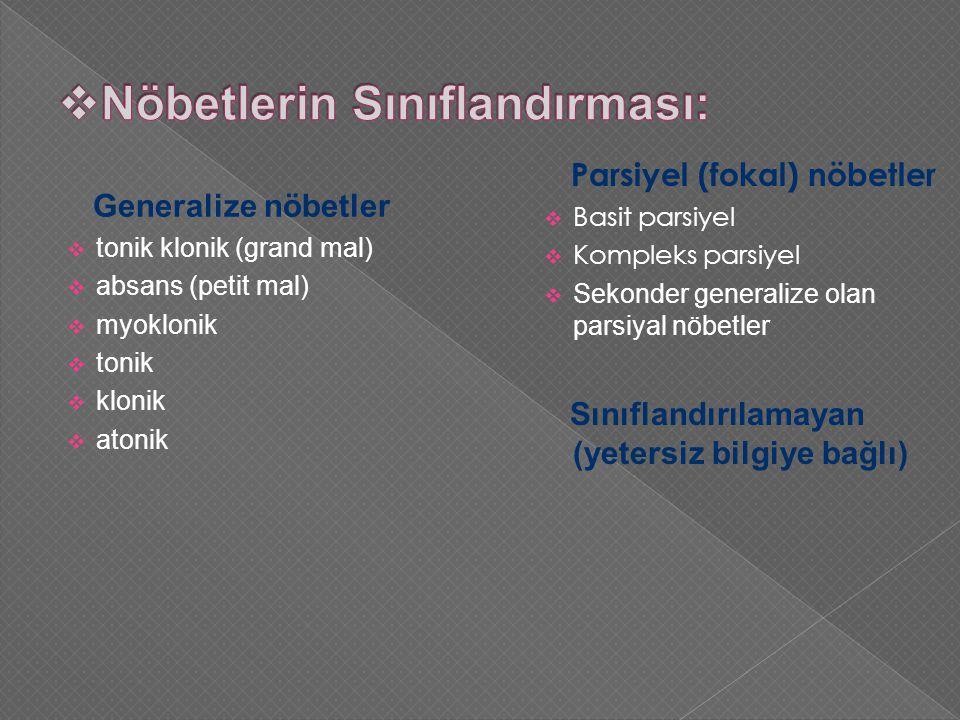 Nöbetlerin Sınıflandırması: