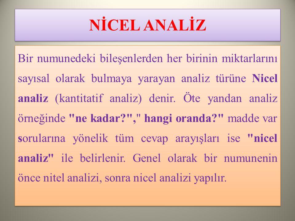 NİCEL ANALİZ