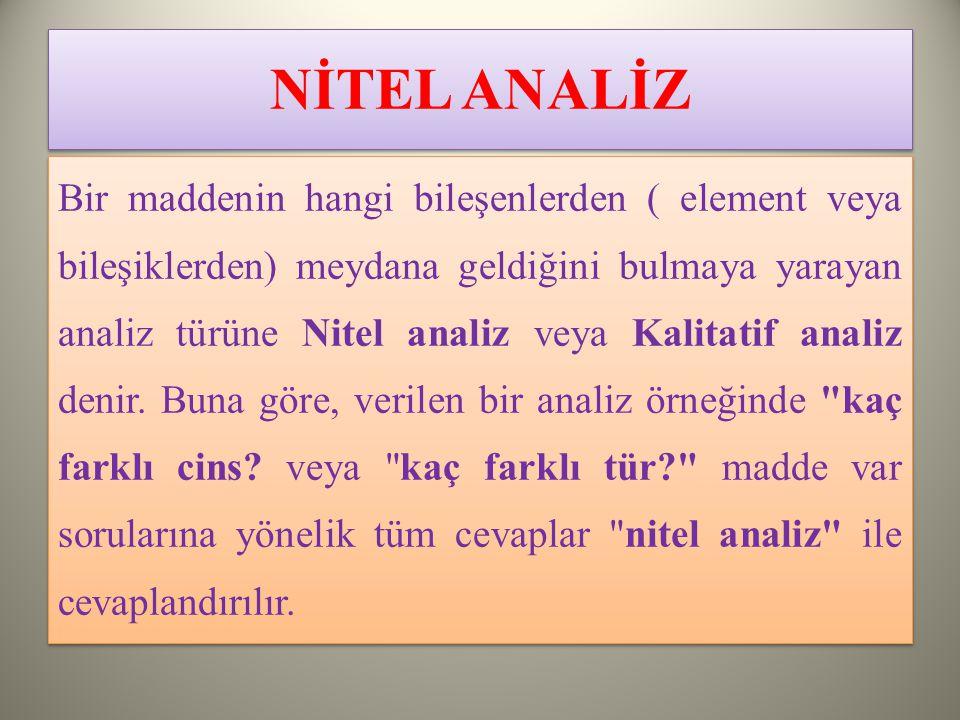 NİTEL ANALİZ