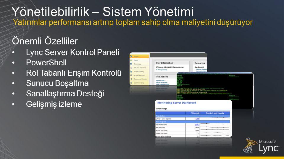 Yönetilebilirlik – Sistem Yönetimi