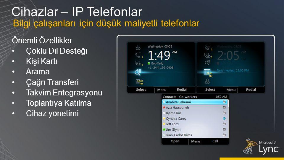 Cihazlar – IP Telefonlar
