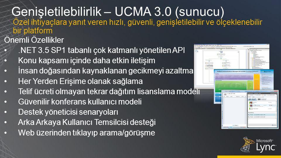Genişletilebilirlik – UCMA 3.0 (sunucu)