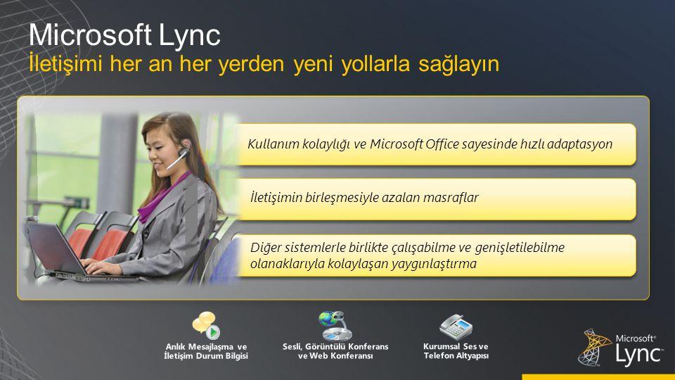 Microsoft Lync İletişimi her an her yerden yeni yollarla sağlayın