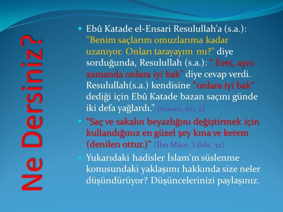 Ebû Katade el-Ensari Resulullah'a (s. a