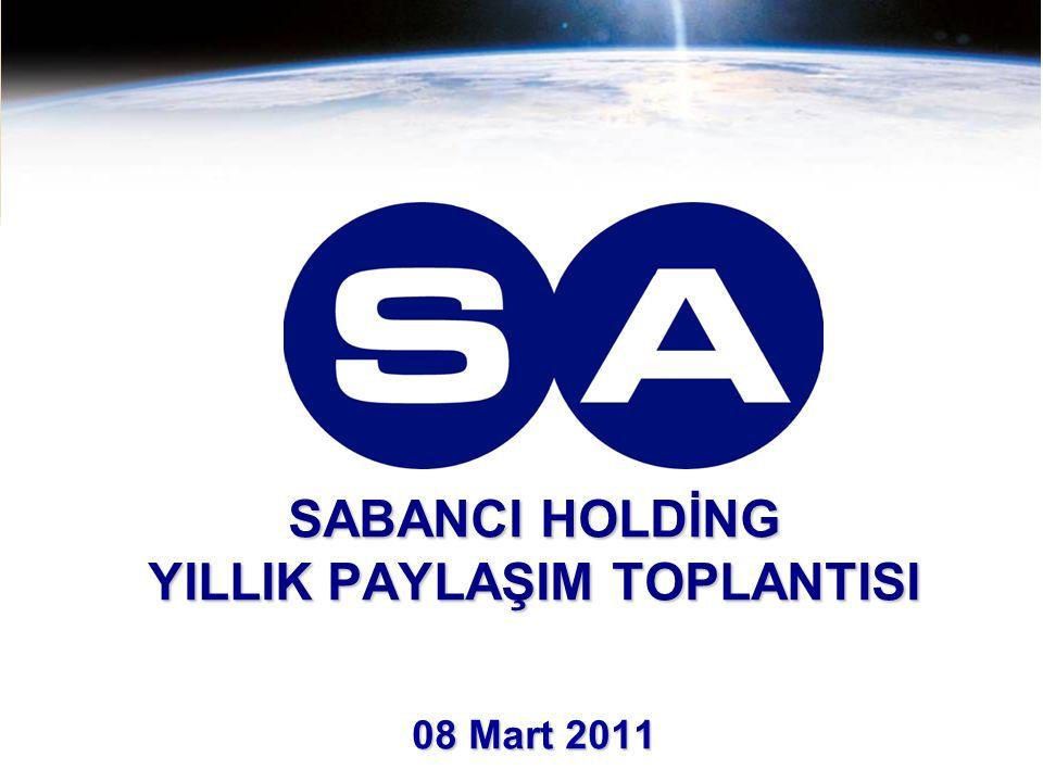 SABANCI HOLDİNG YILLIK PAYLAŞIM TOPLANTISI 08 Mart 2011