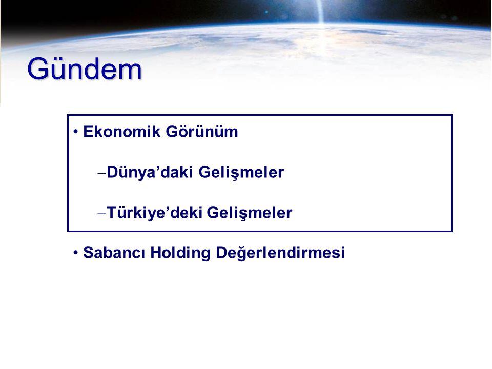 Gündem Ekonomik Görünüm Dünya'daki Gelişmeler Türkiye'deki Gelişmeler
