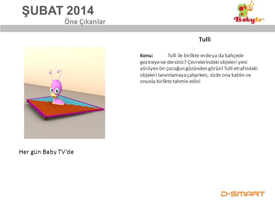 ŞUBAT 2014 Öne Çıkanlar Tulli Her gün Baby TV'de