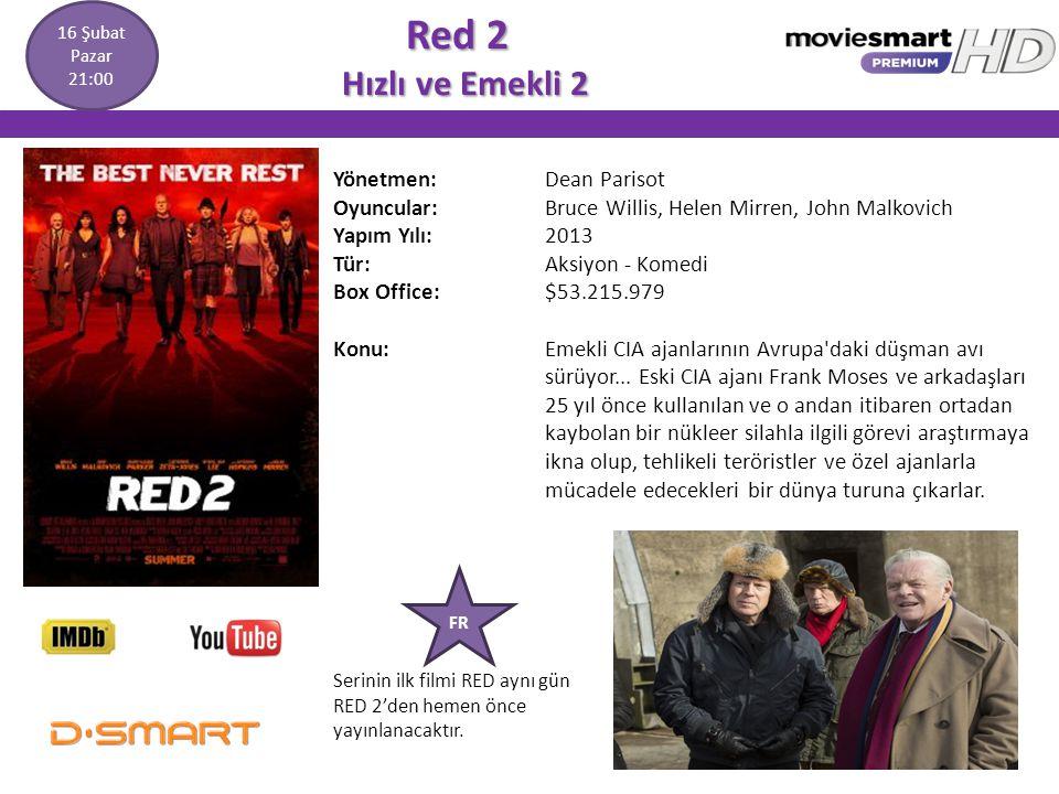 Red 2 Hızlı ve Emekli 2 Yönetmen: Dean Parisot