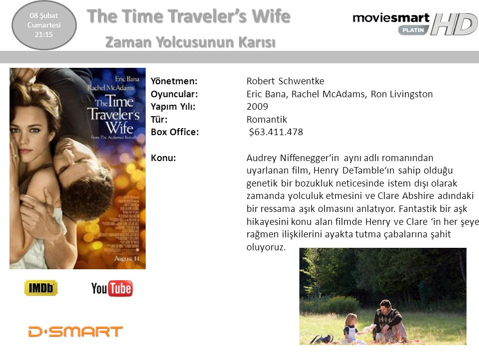 The Time Traveler's Wife Zaman Yolcusunun Karısı