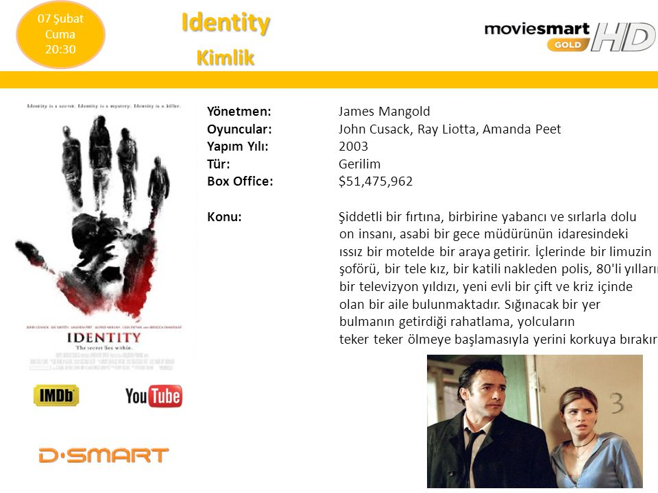 Identity Kimlik Yönetmen: James Mangold