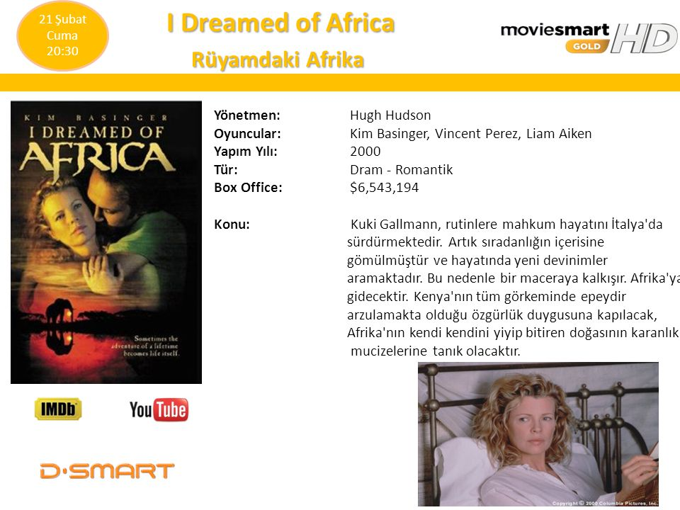 I Dreamed of Africa Rüyamdaki Afrika