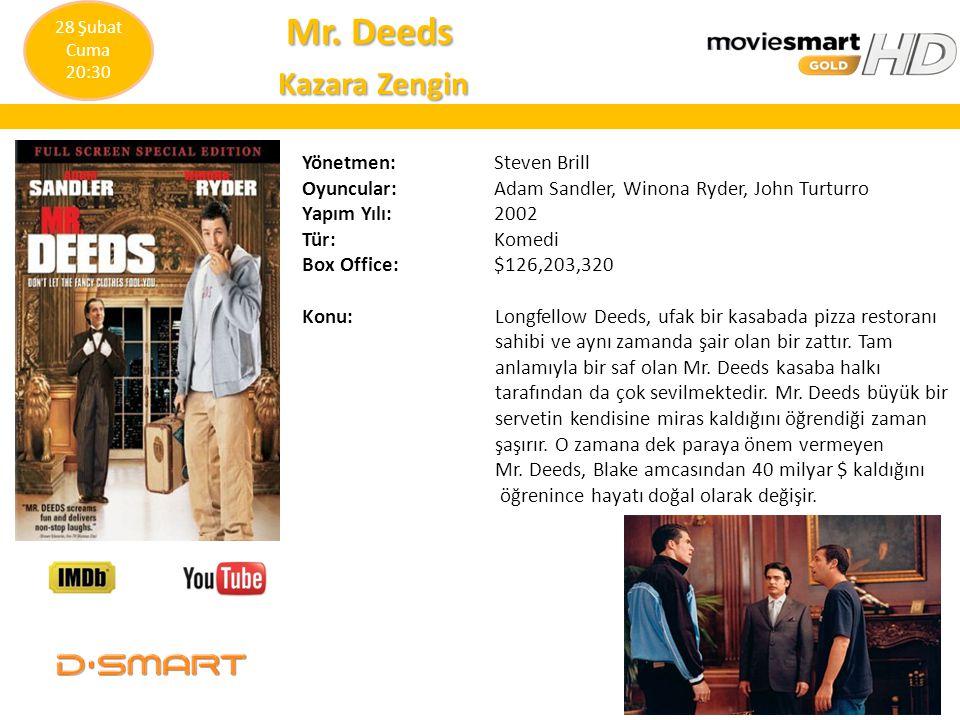 Mr. Deeds Kazara Zengin Yönetmen: Steven Brill