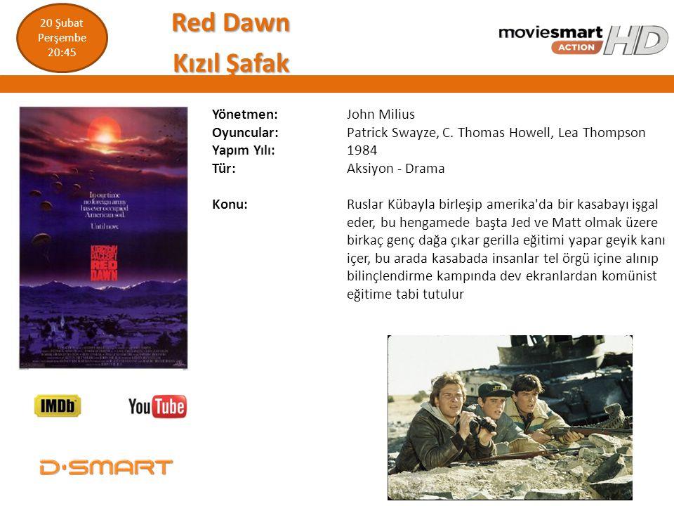 Red Dawn Kızıl Şafak Yönetmen: John Milius