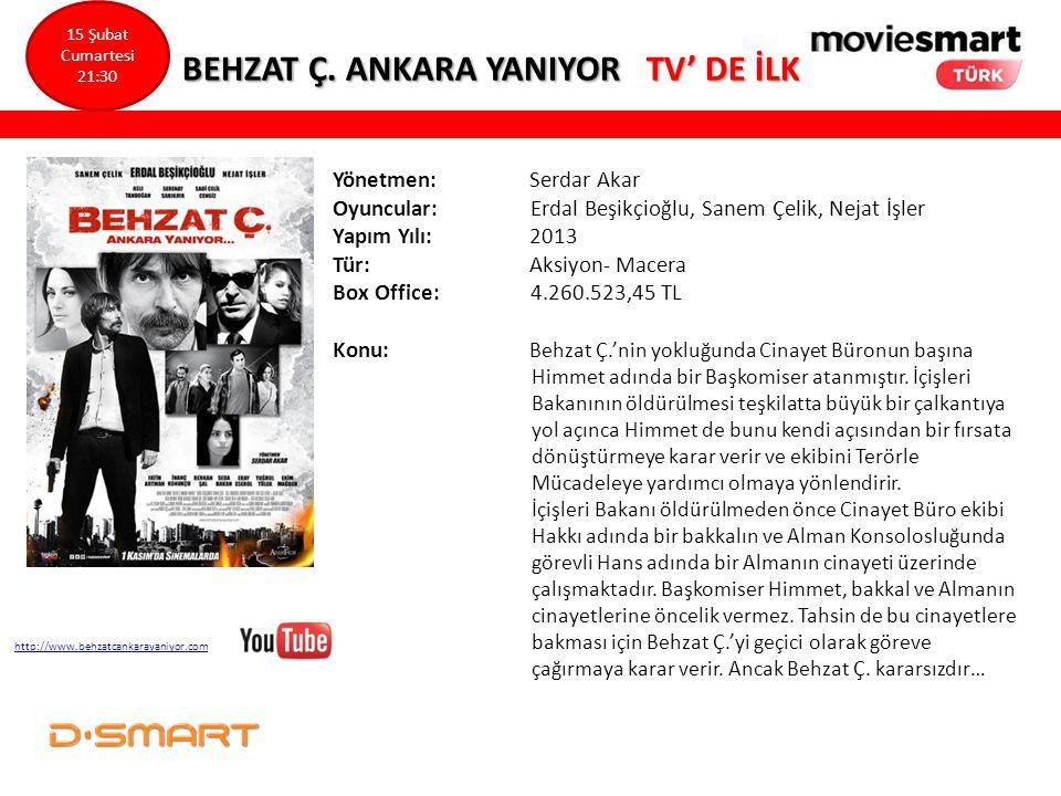 BEHZAT Ç. ANKARA YANIYOR TV' DE İLK