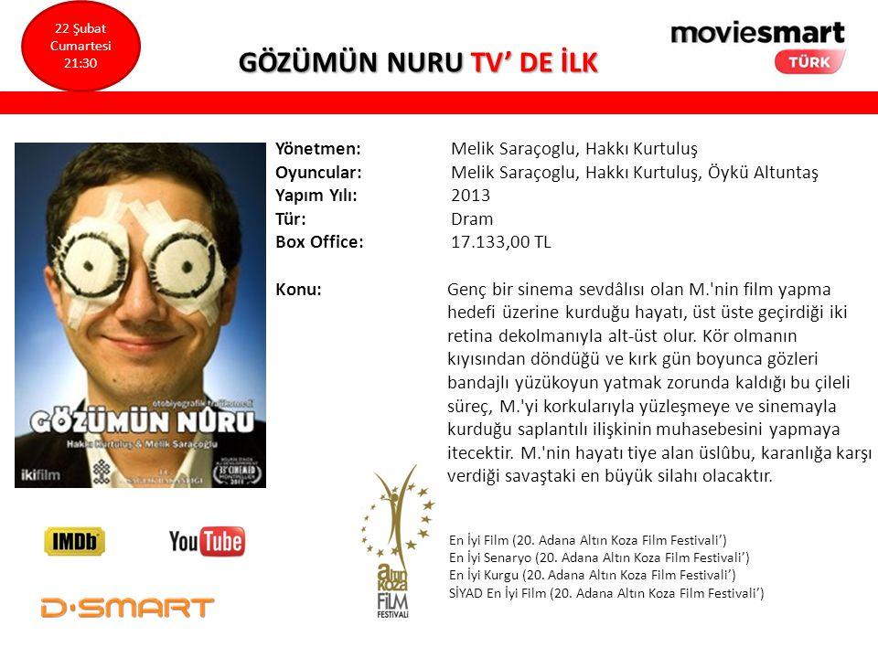 GÖZÜMÜN NURU TV' DE İLK Yönetmen: Melik Saraçoglu, Hakkı Kurtuluş