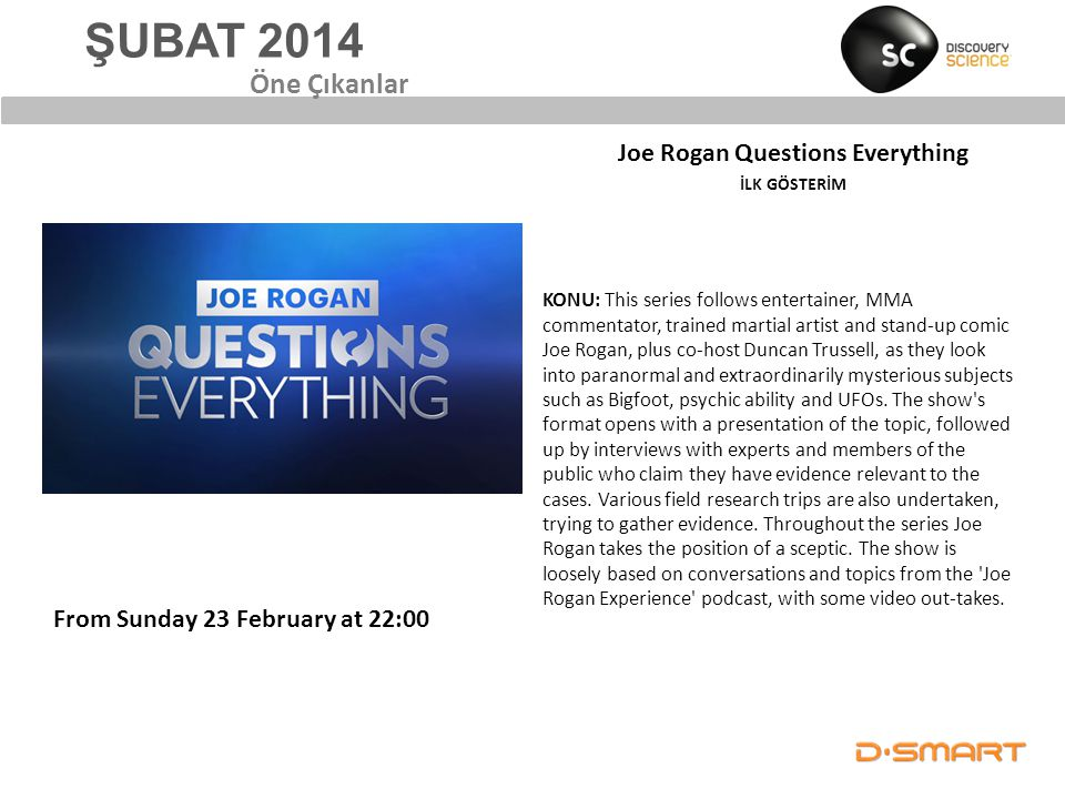 Joe Rogan Questions Everything İLK GÖSTERİM