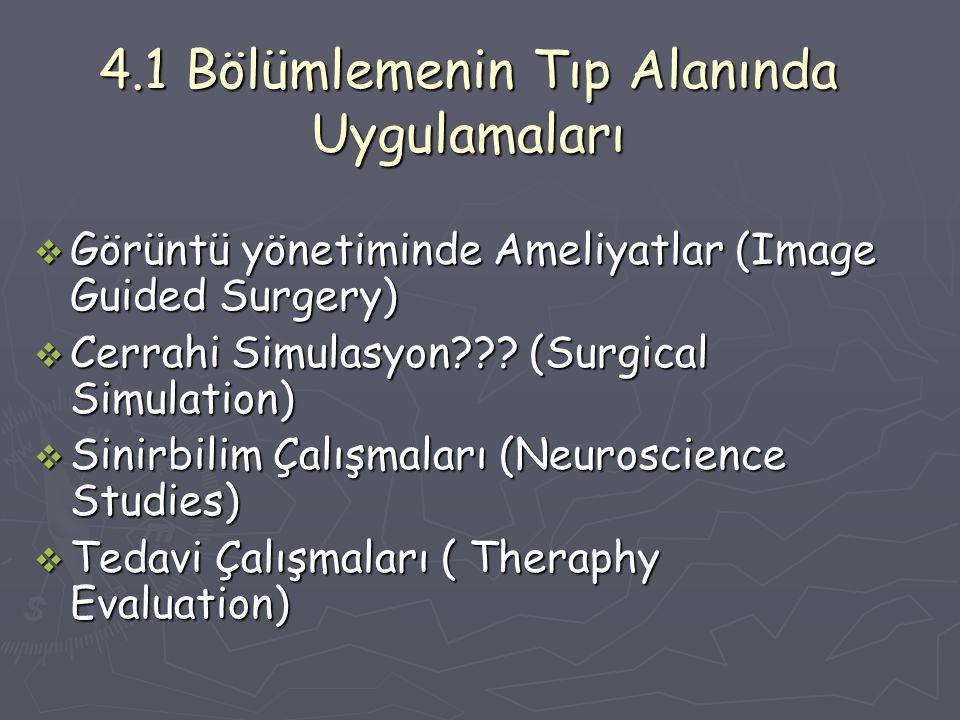 4.1 Bölümlemenin Tıp Alanında Uygulamaları