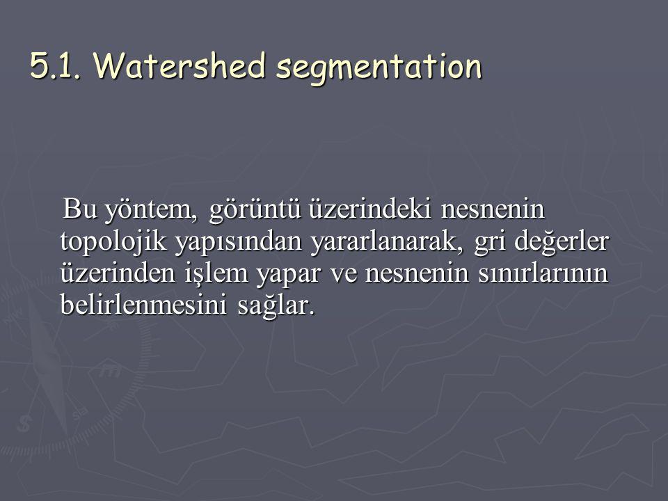 5.1. Watershed segmentation
