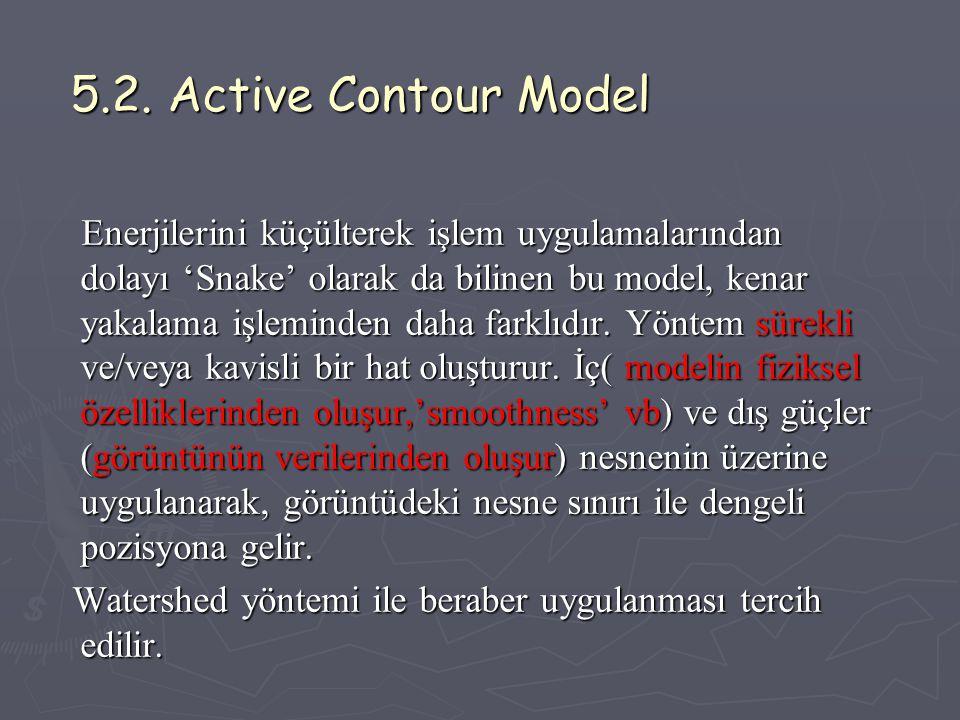 5.2. Active Contour Model