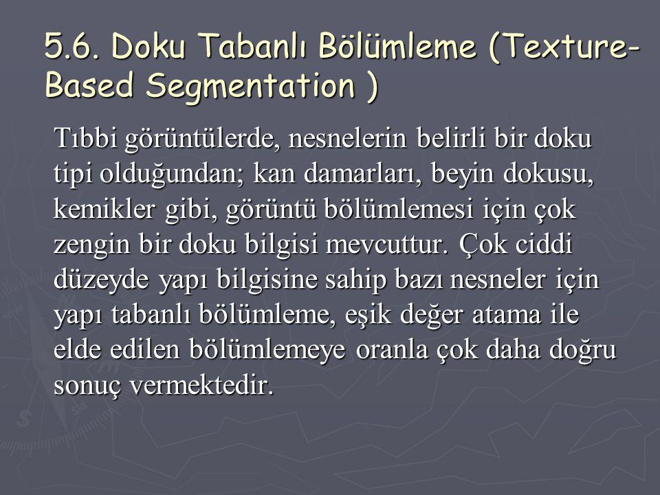 5.6. Doku Tabanlı Bölümleme (Texture-Based Segmentation )